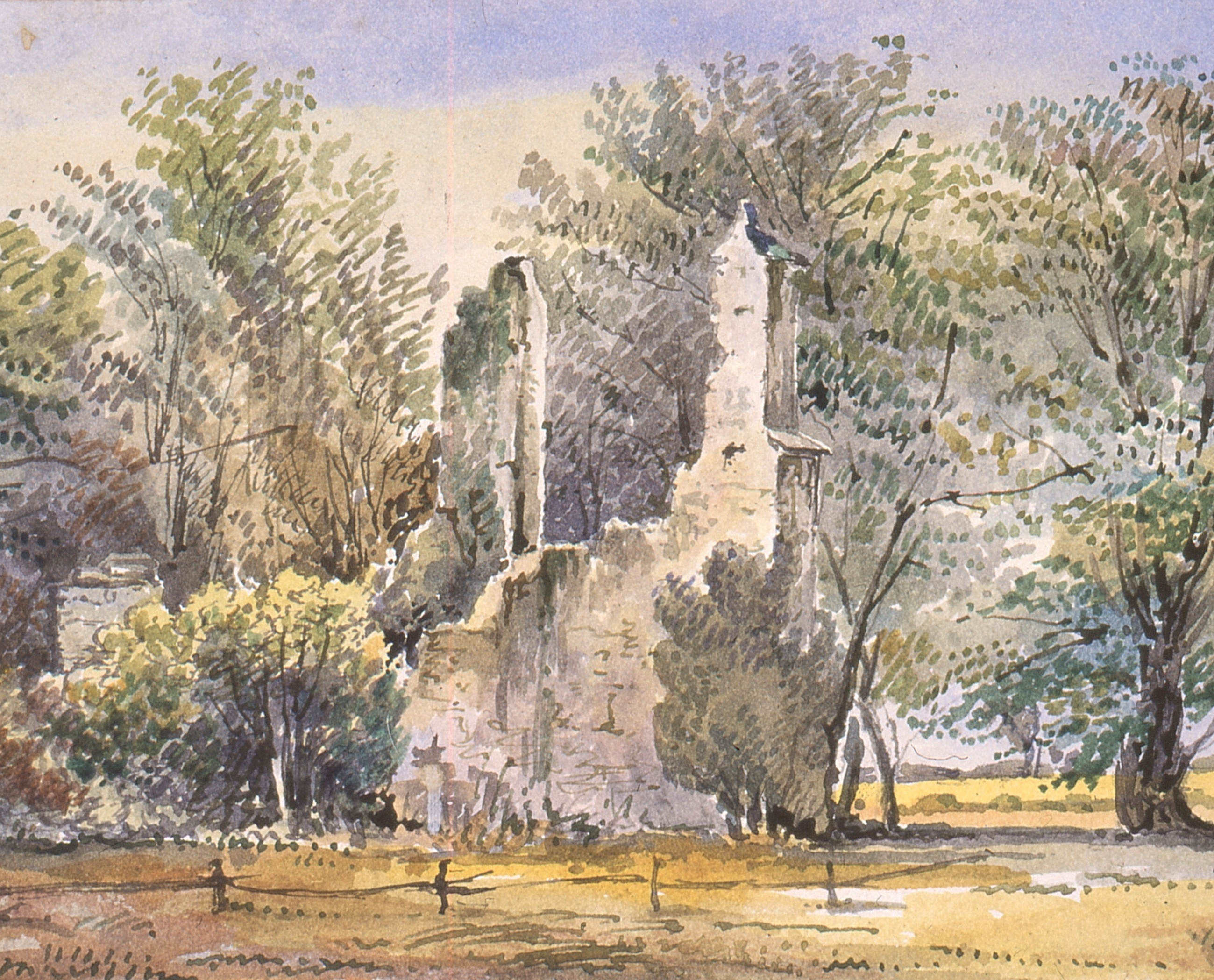 The Ruins of All Saints, circa 1850